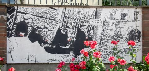 The Wall Art in Rose Garden